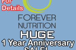 Forever Nutrition 1 year anniversary Sale